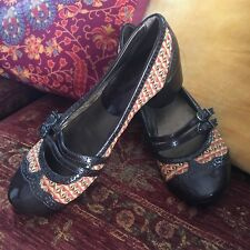 Very Cute Brand New Art Deco Vintage Style Shoes Ladies Size 37 Or 6 Dance