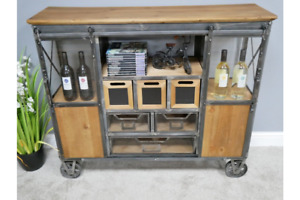 Industrial Storage Cabinet with Drawers Vintage Retro Cabinet 6456