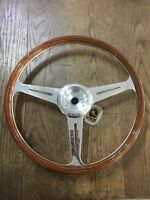 VDM GT Steering Wheel Walnut Rimmed/ Polished Spokes for Porsche 356 PreA & 356A