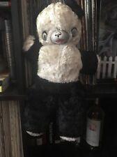 Vintage Panda Teddy Bear Antique Hard Nose And Eyes  Stuffed Panda