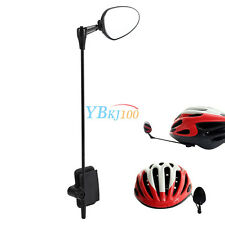 Adjustable Cycling Bike Bicycle Bike Helmet Reflector Rear View Safety Mirror SS