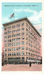 Hutchinson, KS, Rorabaugh-Wiley Building, White Border Vintage Postcard a3803