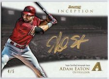 Adam Eaton 2013 Bowman Inception Silver Signings Gold Ink 4/5 Autograph Auto
