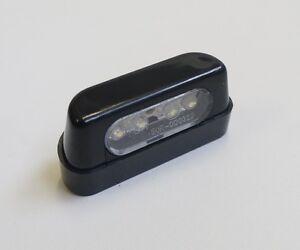 LTC1 LUCE TARGA 4 LED LEDS NERA UNIVERSALE OMOLOGATA BETA  RR 250