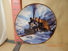 Franklin Mint / Royal Doulton Plate - Winter On Marshall Pass , National Rr Muse