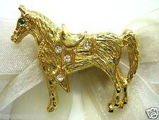 18KGP Horse Swarovski Element Austrian Crystal Rhinestone Brooch Pin