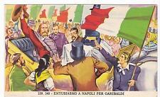 FIGURINA RISORGIMENTO - IMPERIA 1965 339-340 ENTUSIASMO A NAPOLI GARIBALDI 19-39