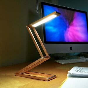 Auraglow Wireless Dimmable Desk Lamp USB Rechargeable Folding LED Reading Light