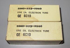 GE 6C10 Tubes (Pair)