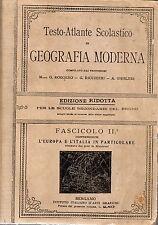 """""""GEOGRAFIA MODERNA"""" -  L'Europa e l'Italia in particolare - 1915"""
