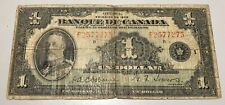 1935 Banque du Canada $1 - Bank of Canada French Issue