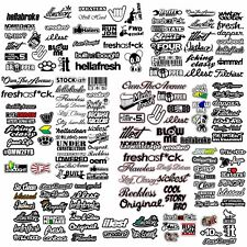 JDM 110+ CAR STICKER DECAL GIGANTIC PACK LOT TUNER RACE (OS+SC+#21W+OGW+TYPR+FC)
