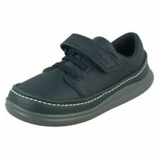 Boys Clarks Crest Aero Hook & Loop Casual Shoes