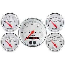 Arctic Weiß Messgerät Set Mit / GPS Speedo AUTO METER 1350