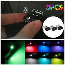 3x Mini Lamp Bulb Accessories Led Usb Car Interior Neon Atmosphere Ambient Light