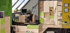 Komplett Jugendzimmer 8-tlg. Schrank Schreibtisch Bett Kommode Regale Büro Set
