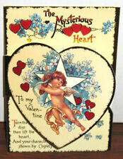 MYSTERIOUS HEART VALENTINE Mechanical Card Victorian MINT Condition SHACKMAN