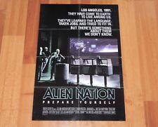 ORIGINAL MOVIE POSTER ALIEN NATION 1988 FOLDED ONE SHEET
