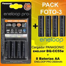 Pack OFERTA FOTO 3 - Cargador Panasonic Eneloop BQ-CC55e + 8 baterias Eneloop Pr