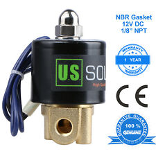 U S Solid 18 12v Dc Brass Electric Solenoid Valve Normally Closed Nbr