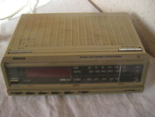 Ancien Radio Réveil Philips D3202-Electronic Clock-Radio L/G M/P FM
