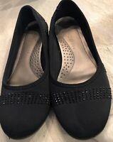 Karen Scott Womens Ralleigh Black Ballet Flats Shoes 7.5 Medium (B,M)