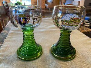 """Vintage German """"Wurzburg"""" wine glasses"""