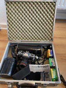 Set Fujica ST901 + 3 Objektive + Koffer Analoge Spiegelreflexkamera
