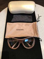 Chanel Lavender Purple Pink Hombre Plastic Shield Sunglasses