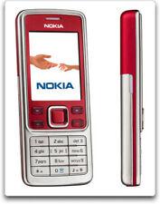 Originale Nokia 6300 Bluetooth MP3 sbloccato 2MP ebraico Mobile Phone Rosso