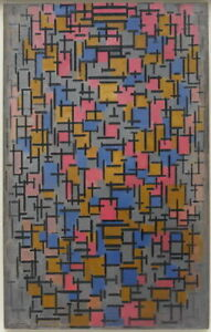 Piet Mondrian Composition Giclee Canvas Print Paintings Poster Reproduction Copy
