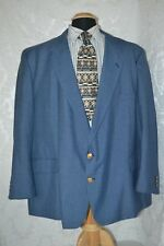Boat House Row Blue 2 Metal Front Buttons Sports Jacket Size 58 PR