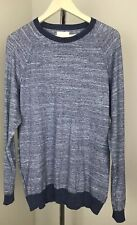 Billy Reid Crew Neck Lightweight Sweater Blue Size Large