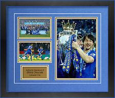 Leicester City SHINJI OKAZAKI mano firmato incorniciato foto.