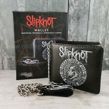 Official Slipknot Goat Wallet w/ Chain. Goat Head/Maggot/Mens Wallet/Rock/Metal