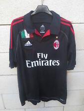 Maillot A.C MILAN 2013 ADIDAS third noir shirt maglia calcio poche L