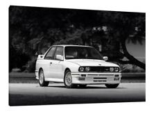 1990 BMW E30 M3 - 30x20 Inch Canvas - Framed Picture Print Wall Art Poster