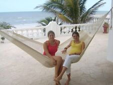 "Sale-Beautiful large handmade Mexican ""double knit"" cotton hammock"