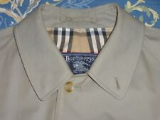BURBERRY PURE COTTON MACKINTOSH TRENCH COAT MAC JACKET VENTILE TYPE CLOTH XL XXL