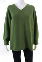 Christopher Fischer  Mens V Neck Cashmere Sweater Green Size Large