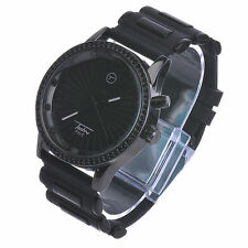 NEW Hip Hop Fashion 7 LED Color Light Black Band Rapper Watches WR 8368-7L BK