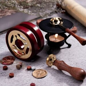 Retro Wax Seal Schmelzofen Massivholzofen Ofen Topfperlen Sticks HeatF LTkj