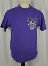 Harley Davidson Men's Shirt Graphic Size Large USA Purple Cotton Willie G  1994