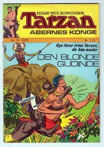 Tarzan Abernes Konge #21, EDGAR RICE BURROUGHS, Danish 1972 VG  r