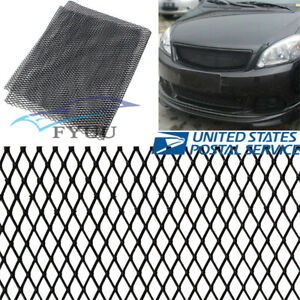 Universal Black Rhombus Style Car Front Grille Vent Mesh Net 12mm*6mm