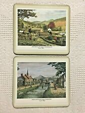 Pimpernel Cork place mats English Villages Made in England 8.5 X 7.6