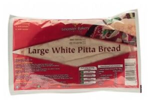 54 x Large White Pitta Bread for Cafe Kebab Curry House