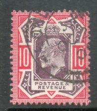 1902 SG255 SPEC M43 (2), 10d  slate purple and Carmine cds Chalky paper