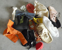 Lot of Miscellaneous Vintage  Doll Clothes Accessories and Shoe LOOK