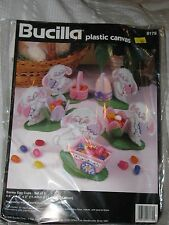 BUCILLA 6179 Plastic Canvas BUNNY EGG CUPS Kit Easter Rabbit Decorations